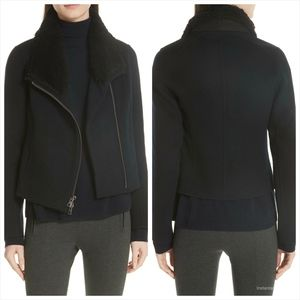 vince Jackets & Coats - Vince Double Face Genuine Shearling Collar Jacket